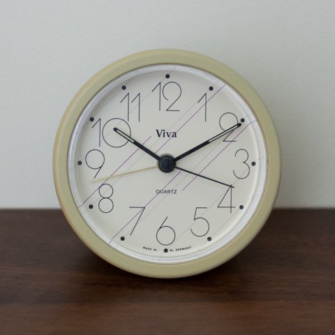 WEST GERMANY VIVA CREAM COLOR ALARM CLOCK