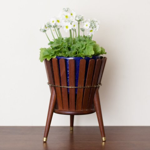 DENMARK SOLID TEAK FLOWER POT STAND