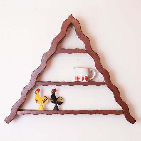 DENMARK SOLID TEAK TRIANGLE SHELF