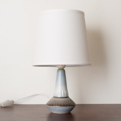 SOHOLM DENMARK LT.GREY/BROWN CERAMIC TABLE LAMP