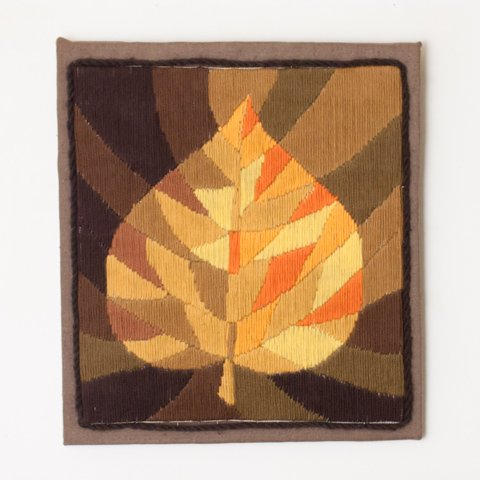 SWEDEN WOOL EMBROIDERED PANEL(LEAF)