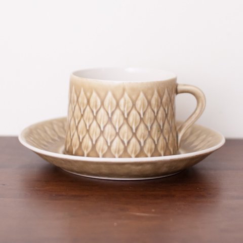 DENMARK KRONJYDEN J.H.Q RELIEF COFFEE CUP&SAUCER
