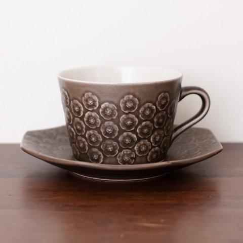 DENMARK KRONJYDEN J.H.Q BRUN AZUR COFFEE CUP&OCTAGON SAUCER