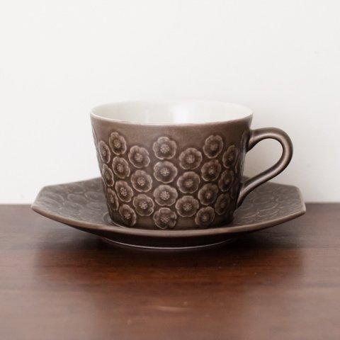 DENMARK KRONJYDEN J.H.Q BRUN AZUR COFFEE CUP&OCTAGON SAUCER(B)