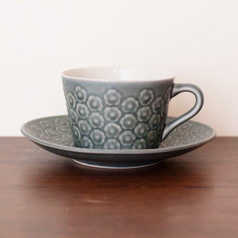 DENMARK KRONJYDEN J.H.Q BLA AZUR COFFEE CUP&SAUCER(B)