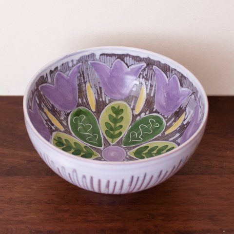 SWEDEN LAHOLM FLOWER PATTERN BOWL
