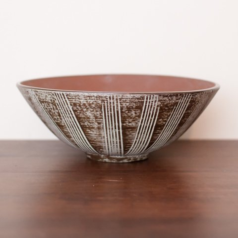 W.GERMANY BROWN/WHITE LINE BOWL