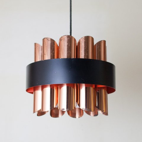 SWEDEN COPPER/BLACK/ORANGE LAMP