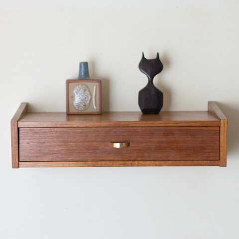 DENMARK TEAK WALL SHELF(A)