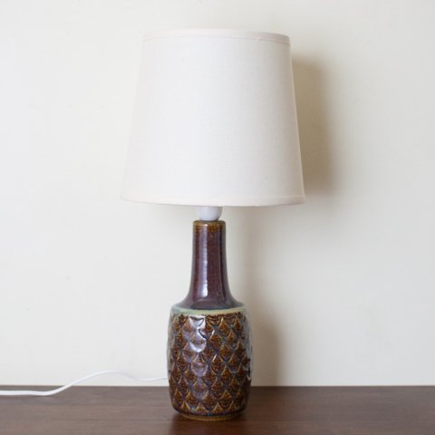 DENMARK SOHOLM DARK MARRON PATTERN CERAMIC BASE TABLE LAMP
