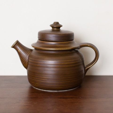 ARABIA Ulla Procope GD BROWN TEA POT