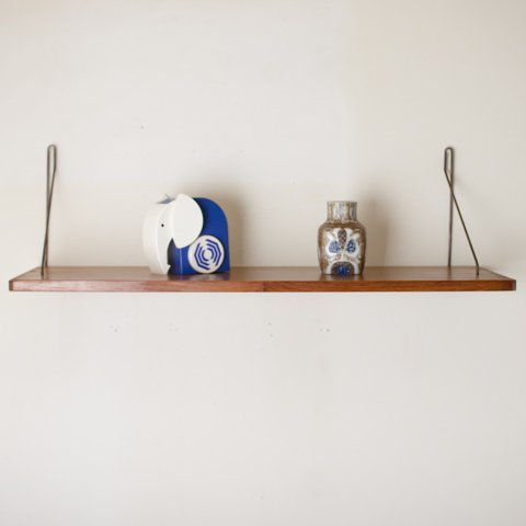 DENMARK TEAK/STEEL WALL SHELF(W725)