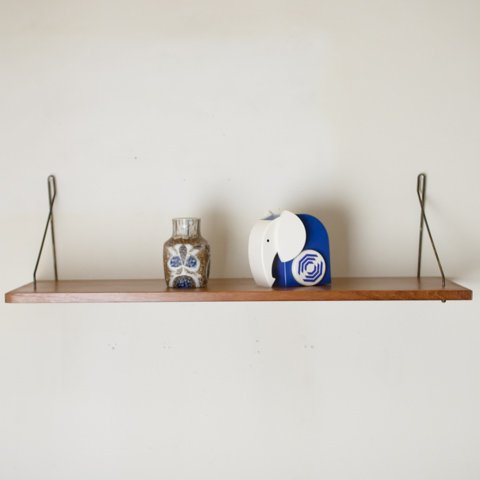 DENMARK TEAK/STEEL WALL SHELF(W720)