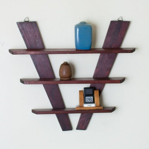 DENMARK SOLID ROSEWOOD? WALL SHELF
