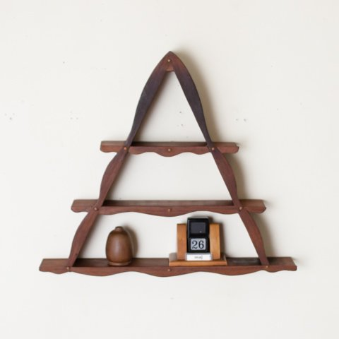 DENMARK SOLID TEAK SMALL SIZE TRIANGLE SHELF