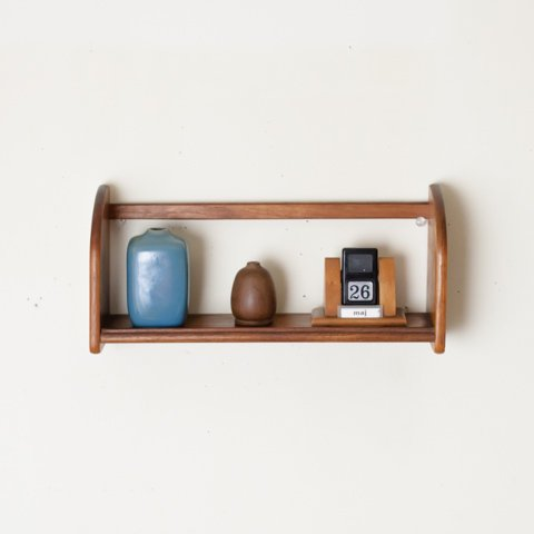 DENMARK SOLID TEAK WALL SHELF (W320)