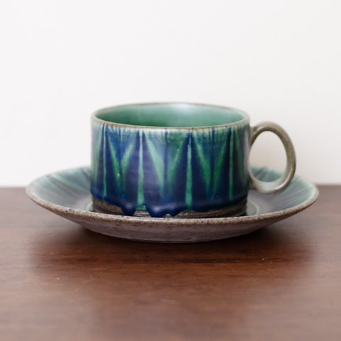 DENMARK THOMAS TOFT STUDIO TUNDRA COFFEE CUP&SAUCER(A)