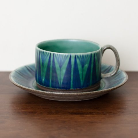 DENMARK THOMAS TOFT STUDIO TUNDRA COFFEE CUP&SAUCER(C)