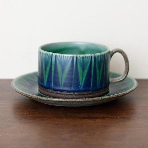 DENMARK THOMAS TOFT STUDIO TUNDRA COFFEE CUP&SAUCER(E)