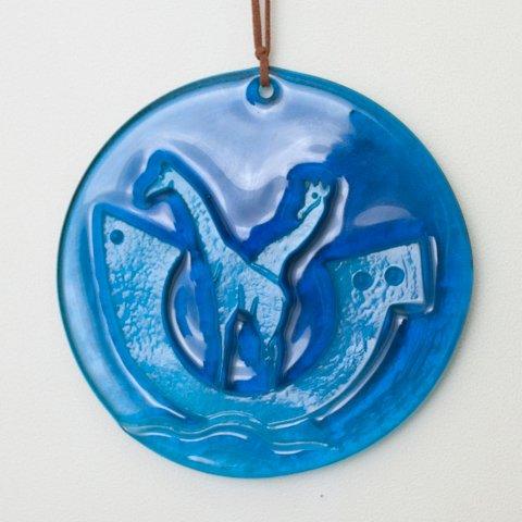 DENMARK HOLMEGAARD BLUE SUNCATCHER(NOA'S ARK)