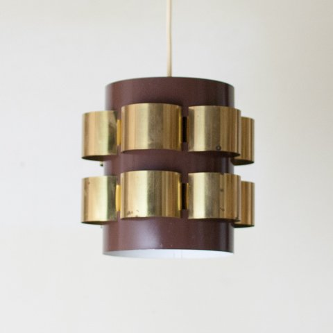 DENMARK BROWN/GOLD SHADE LAMP