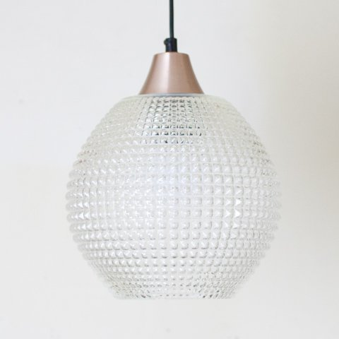DENMARK CLEAR PRESSING GLASS SHADE PENDANT LAMP