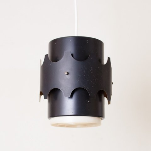 DENMARK MAT BLACK COVERED SHADE/LOUVER LAMP