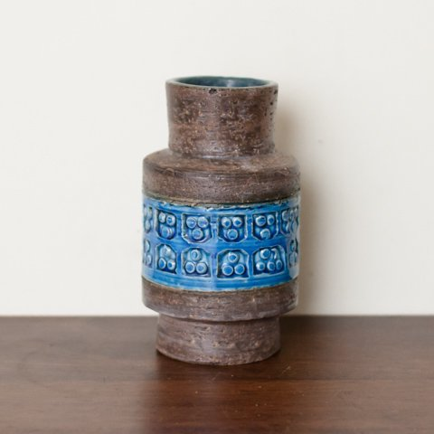 ITALY BROWN/BLUE SMALL VASE FROM DENMARK