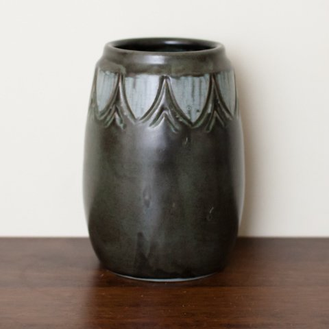 DENMARK LOVEMOSE BLACK/BLUE FLOWER VASE