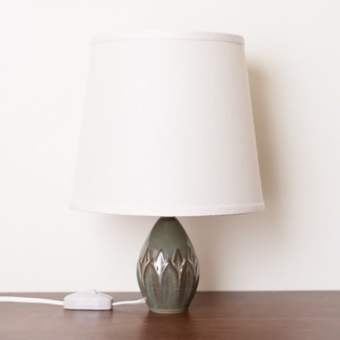 DENMARK SOHOLM GREEN/BROWN/GREY CERAMIC BASE TABLE LAMP