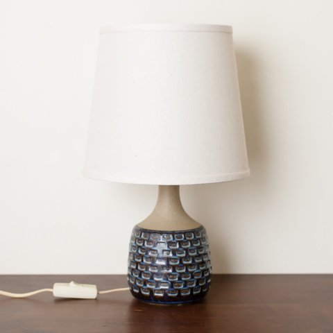 DENMARK SOHOLM NAVY BLUE/TERRA COTTA  BASE TABLE LAMP