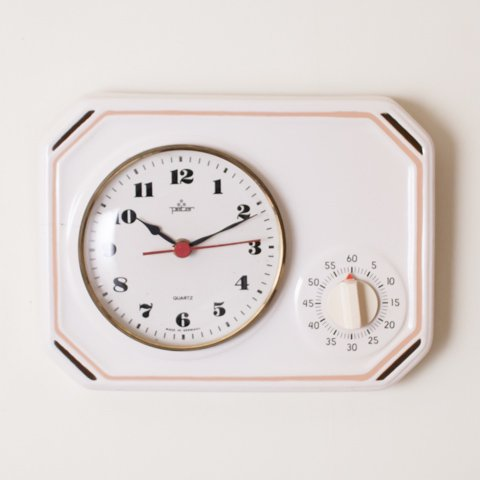 GERMANY PETER WHITE KITCHEN CLOCK FROM DENMARK