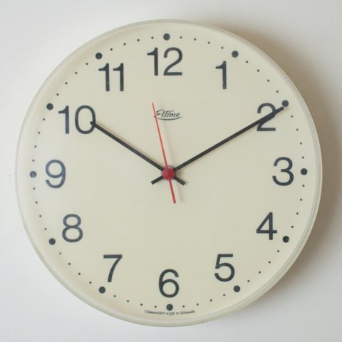 DENMARK eltime IVORY COLOR CLOCK