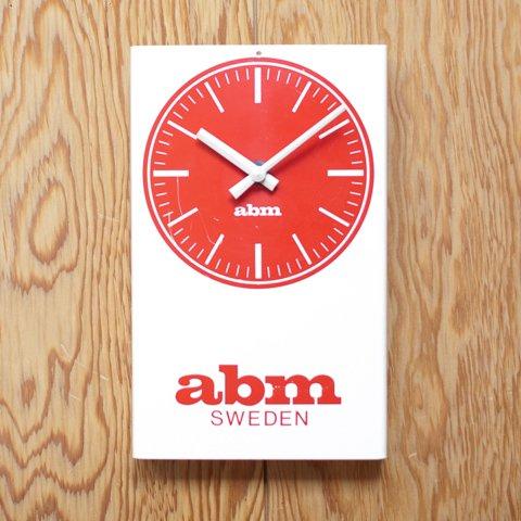 SWEDEN abm AD CLOCK FROM DENMARK
