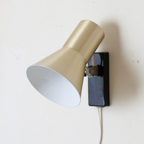 DENMARK S.GOLD/BLACK BASE STEEL WALL LAMP