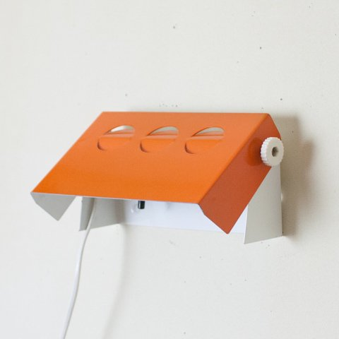 DENMARK ORANGE STEEL WALL LAMP