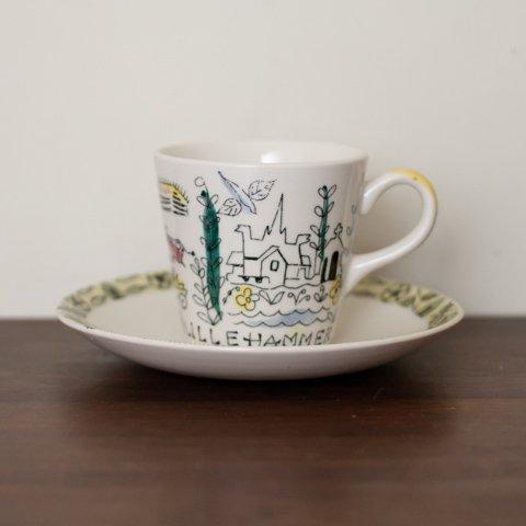 NORWAY STAVANGERFLINT LILLEHAMMMER COFFEE CUP&SAUCER