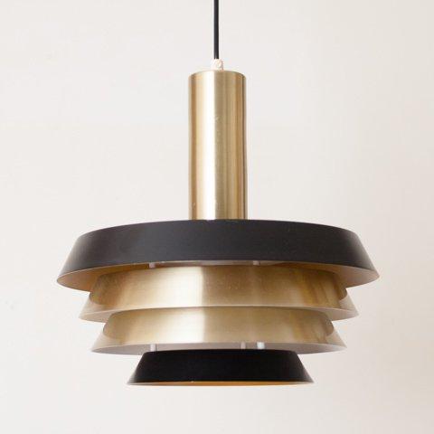 SWEDEN GRANHAGA S.GOLD/BLACK 4 SHADES LAMP
