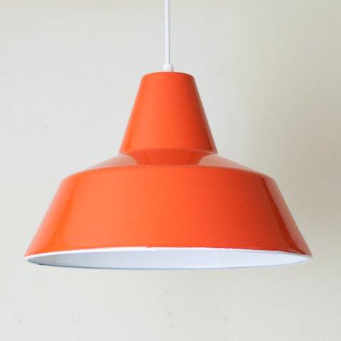 DENMARK LOUIS POULSEN ORANGE ENAMEL LAMP
