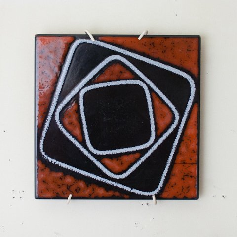 ABSTRUCT ART ITALY TILE FROM DENMARK(A)