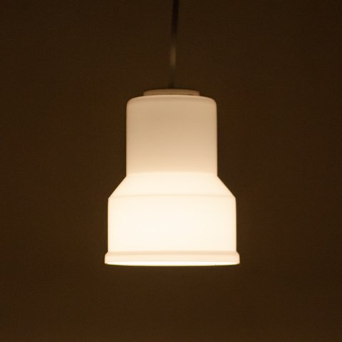 DENMARK MILKY WHITE/CLEAR DOUBLE GLASS SHADE LAMP(B)