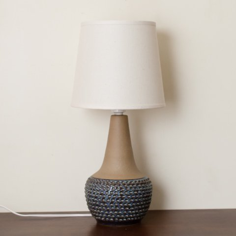 DENMARK SOHOLM BLUE/BROWN/TERRA COTTA  BASE TABLE LAMP