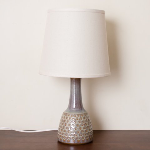 DENMARK SOHOLM LT.MOSS GREEN/DOT PATTERN CERAMIC BASE TABLE LAMP