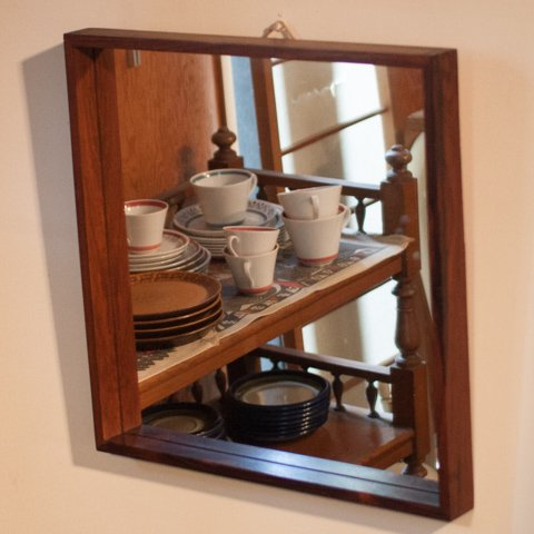DENMARK SOLID ROSEWOOD SQUARE MIRROR