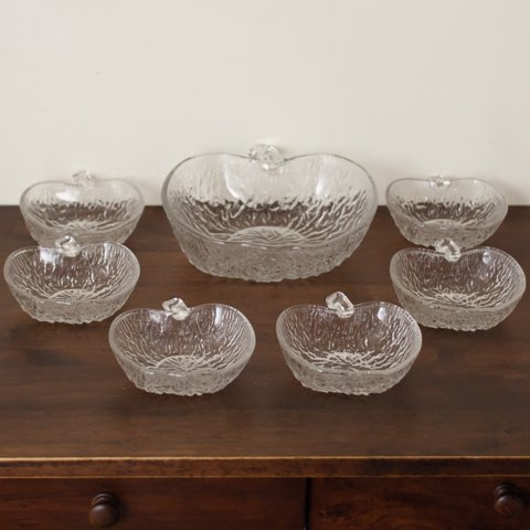 ITALY APPLE STYLE GLASS BOWL SET FROM DENMARK