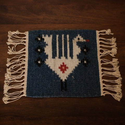 DENMARK WOOL/LINEN KILIM TABLE MAT(BIRD)