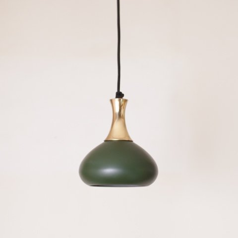 DENMARK DARK GREEN/BRASS COLOR SHADE LAMP