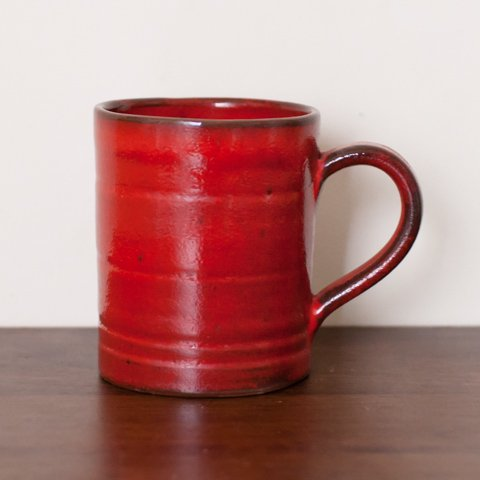 DEEP DARK RED MUG FROM DENMARK