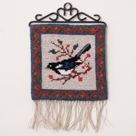 SWEDEN TVISTSOM EMBROIDERY TAPESTRY BIRD(A)