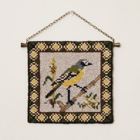 SWEDEN TVISTSOM EMBROIDERY TAPESTRY BIRD(E)